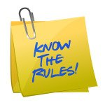 know the rules written on a post it note illustration design